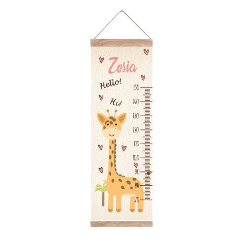 Miarka z żyrafą dla dziewczynki