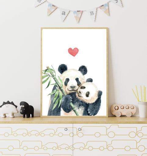 Panda z mamą