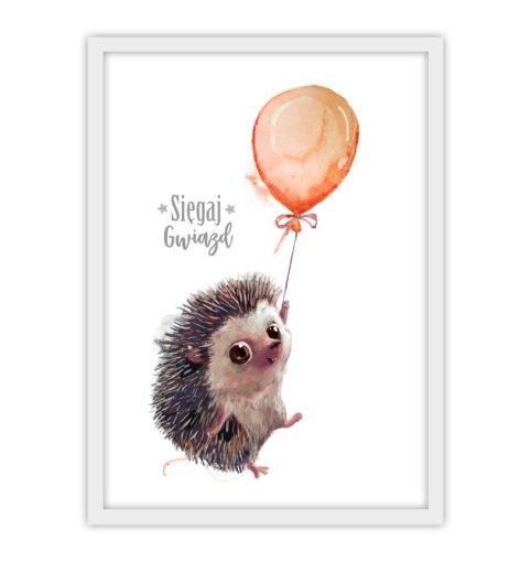 Jeżyk z balonem